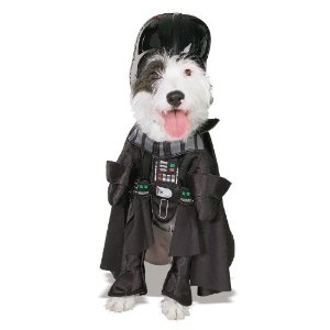 darth vader with arms halloween dog costume