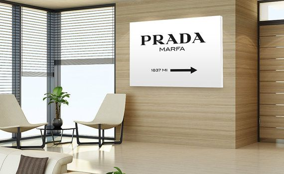 Prada Marfa High-Quality Hanging Canvas by condicion on Etsy