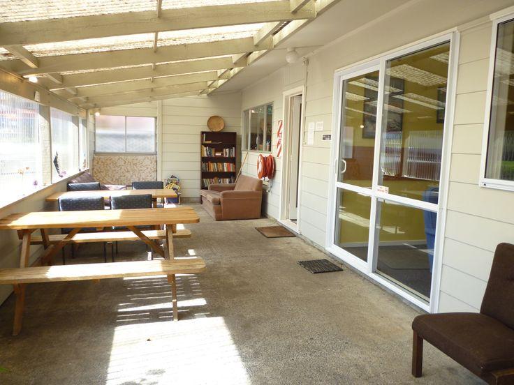 Te Tiriti Lodge Verandah fully covered all weather area