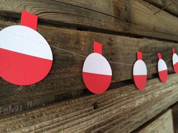 Fishing Party Bobber Garland - Fishing Bobber Garland, Party Decorations, Birthday Party, Baby Shower