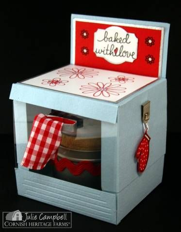Bun in the Oven Favor Box - template and instructions - holds cupcake- Great for a Baby Shower!