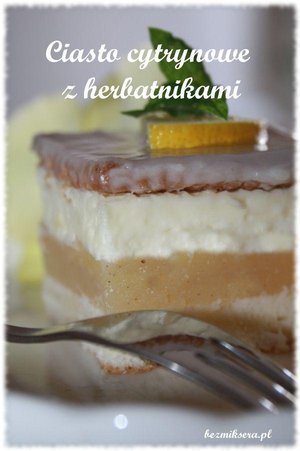 Ciasto cytrynowe z herbatnikami