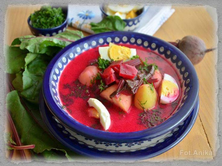 Domowa kuchnia Aniki: Barszcz z botwinki z ziemniakami i jajkiem