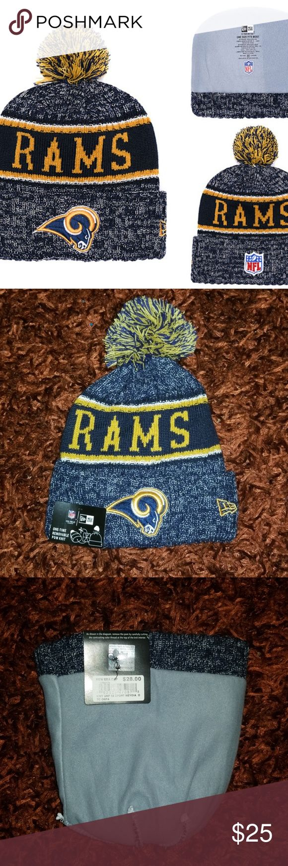 New Era Rams  Cuffed Knit Hat Brand new  Never used  Same bussiness day shipping Perfect holiday gift for your friend, boyfriend or husband Check my p…