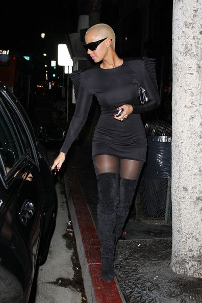 More Pics of Amber Rose Over the Knee Boots (1 of 9) - Amber Rose Lookbook - StyleBistro