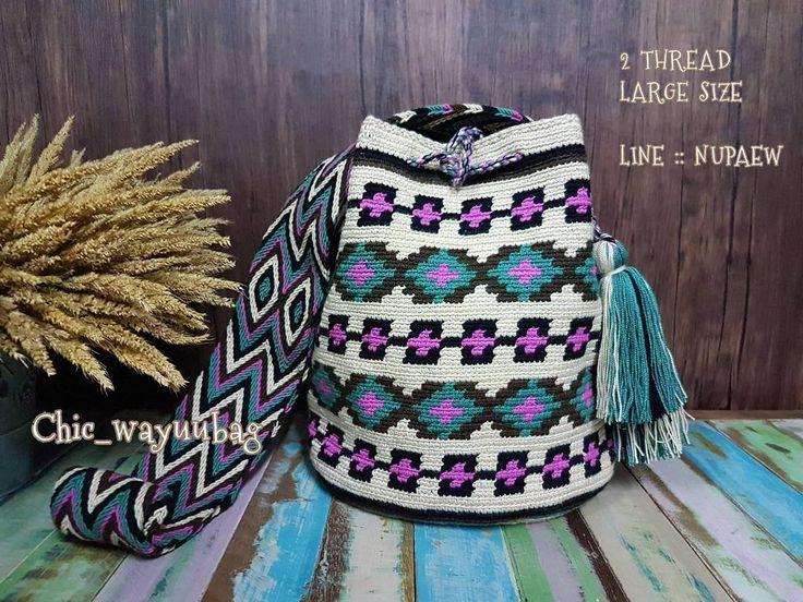 15 отметок «Нравится», 1 комментариев — Wayuu bags % มีสินค้าพร้อมส่ง (@chic_wayuubag) в Instagram: « พร้อมส่งค่าา. รุ่น Classic Wayuu bag Size L  ขนาดใหญ่ด้ายคู่ 28×30 ซม.+- ขนาดสายยาวประมาณ…»