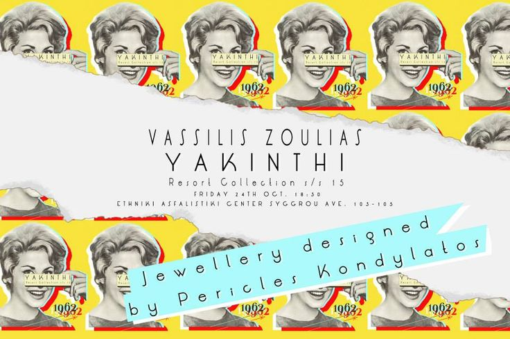 """YAKINTHI"": The complete Collection ""YAKINTHI"" Fashion Show Vassilis Zoulias Garments & Pericles Kondylatos Jewellery @ 16th ATHENS XCLUSIVE DESIGNERS WEEK by COCA - COLA light photos by Patricia Munster ""YAKINTHI"" Fashion Show - Resort s/s 15 took place on FRIDAY 24th OCT. @ Ethniki Asfalistiki Center. Jewellery exclusively designed for Vassilis Zoulias by Pericles Kondylatos"