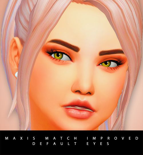Maxis match improved default eyes | Sims 4 cc eyes, The ...