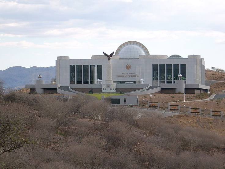 The State House of the Republic of Namibia is the administrative capital of Namibia, as well the official residence of the President of Namibia. Located in the Auasblick suburb of Windhoek, the State House was constructed by Mansudae Overseas Projects of North Korea from September 2002 to March 2008, a total of 66 months. The administrative building cost N$ 400 million Namibian dollars.