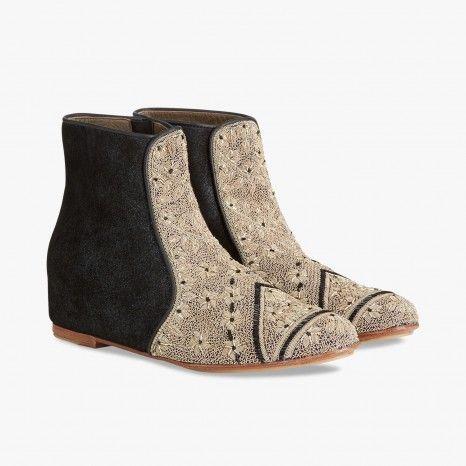 Chaussures plates noire et beige - MEHER KAKALIA