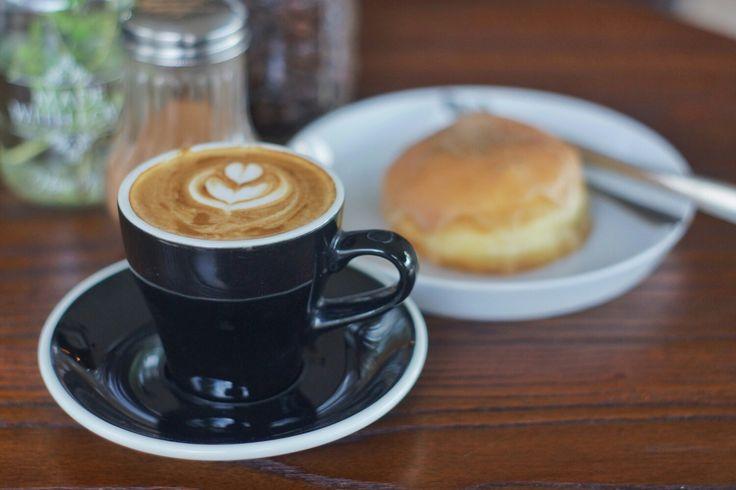 Timor Leste on cappuccino and mozzarella inside on brioche-type dough doughnut.  #IslandLife