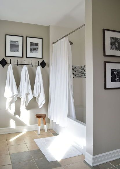 gray bathroom color ideas. classic + serene bathroom reveal gray color ideas