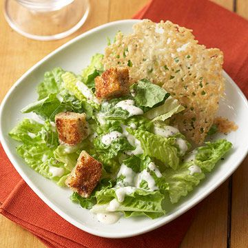 38 best easy diabetic dinner recipes images on pinterest kitchens caesar style salad with crispy parmesan rounds forumfinder Image collections