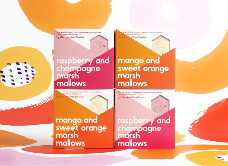Branding and packaging for The Marshmallowist by Veronica Lethorn. #marshmallows