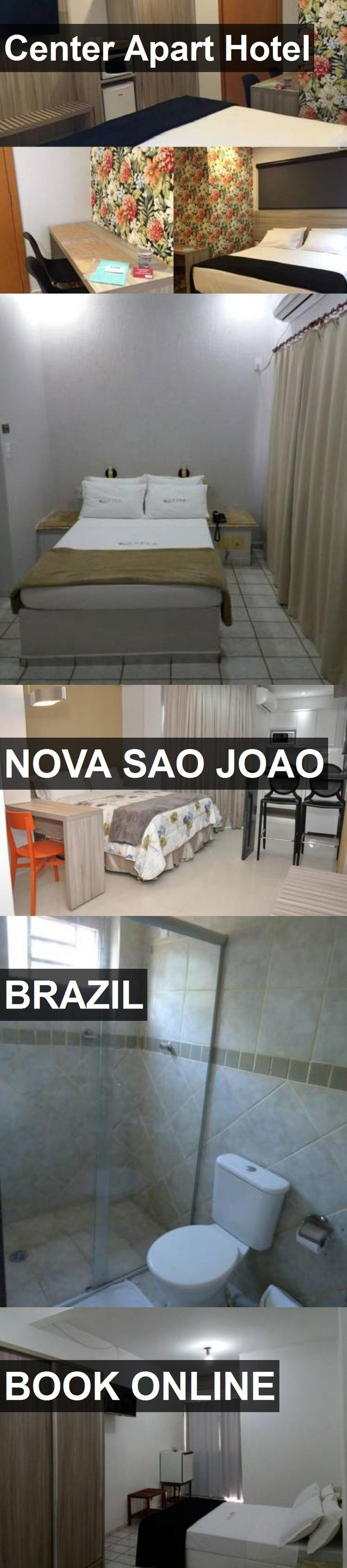 Center Apart Hotel in Nova Sao Joao, Brazil. For more information, photos, reviews and best prices please follow the link. #Brazil #NovaSaoJoao #travel #vacation #hotel