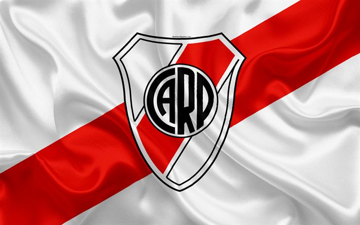 Download wallpapers Club Atletico River Plate, 4K, Argentine Football Club, emblem, logo, First Division, Superliga Argentina, Argentina Football Championships, football, Buenos Aires, Argentina, silk texture