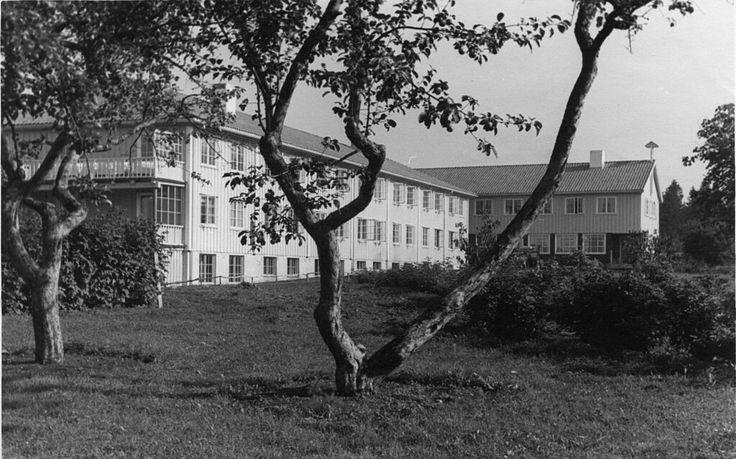Buskerud fylke Hønefoss Eksteriøret avKlækken hotellpåRingerikesomLebensborn-hjem underandre verdenskrig 1940-tallet