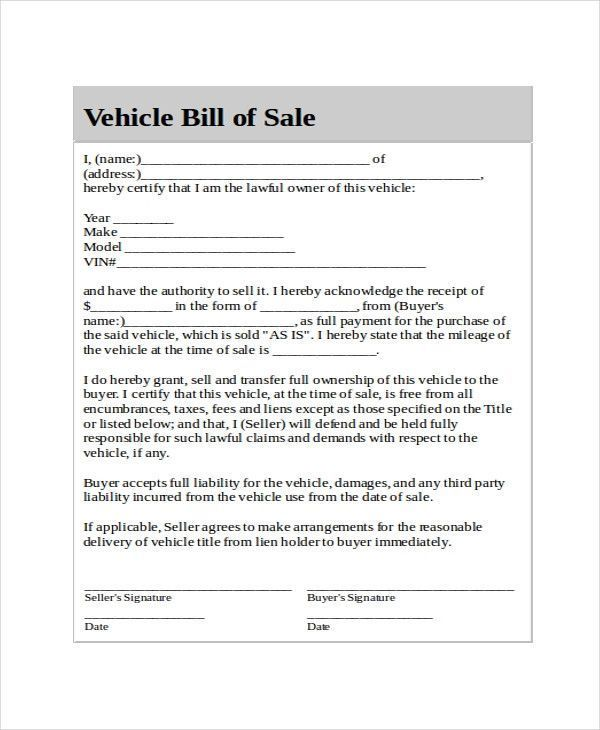 Used Car Bill Of Sale Template Adorable Generic Bill Of Sale Template 12 Free Word Pdf Of 32 Bill Of Sale Template Templates Templates Free Design