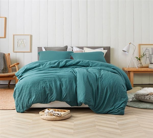 Stylish Teal Queen Bedding Decor Extra Thick Natural Loft Ocean Depths Teal Most Comfortable Queen Oversize Comforter Teal Comforter Comforter Sets Comforters