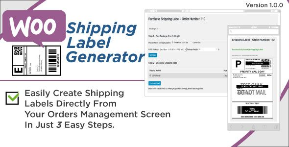 WooCommerce Shipping Label Generator  WooCommerce has features - shipping label