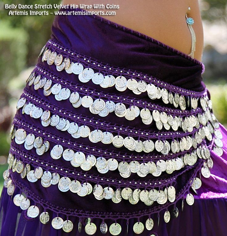 Artemis Imports - Belly Dance Stretch Velvet Hip Wrap With Coins , $39.99 (http://www.artemisimports.com/belly-dance-stretch-velvet-hip-wrap-with-coins/)