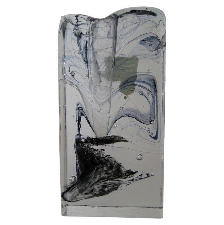 Vintage Block Glass Solifleur on Chairish.com