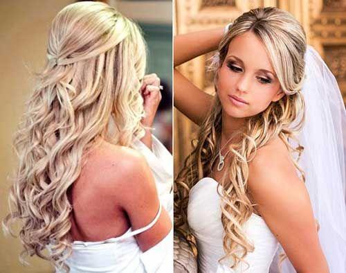 Wedding Hairstyles With Veil wedding hairstyles with veil Half Up Half Down Wedding Hairstyle With Veil Google Search