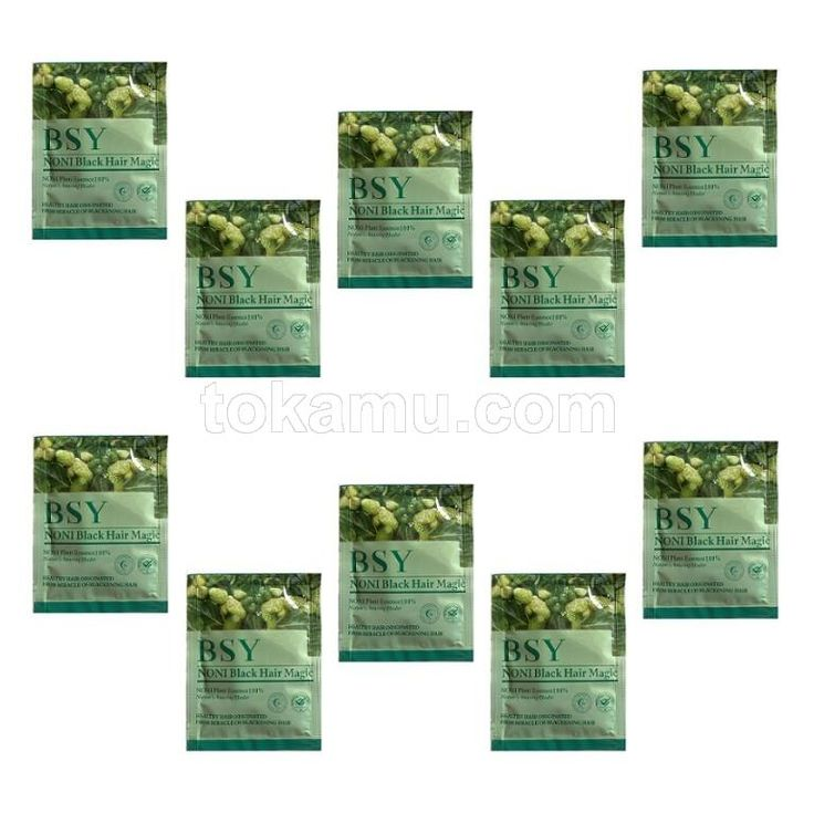 BSY, NONI Black Hair Magic Shampoo - 5 Sachet