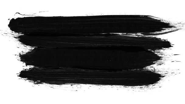 Brush Stroke Black And White Transition Background Animation Of