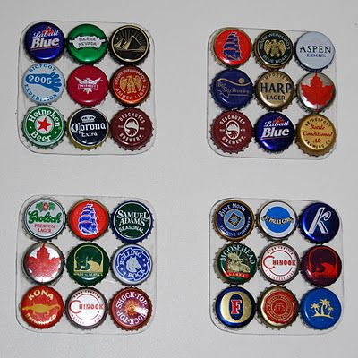 Bottle cap coasters my sister in law pinned. Definitely going to try this.