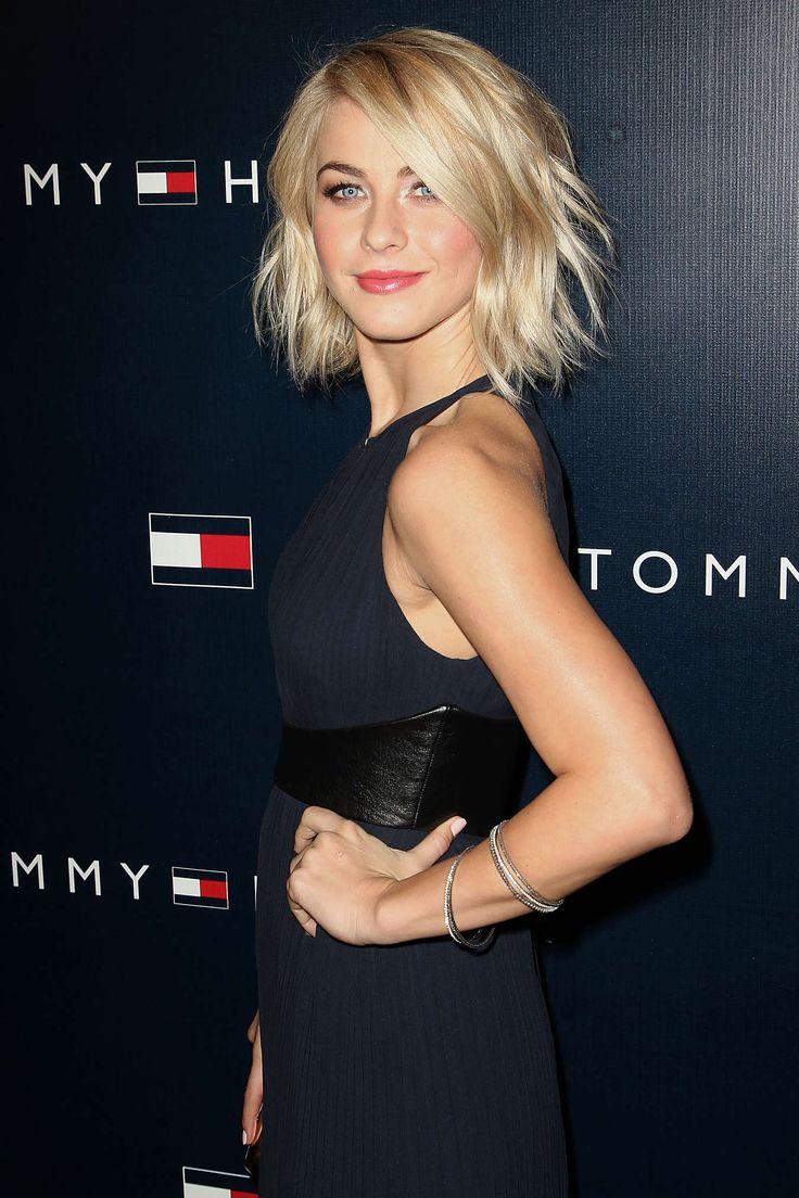 Short, choppy, blonde Julianne Hough