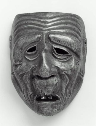 Kyogen mask of the O-oji type  狂言面 祖父  Japanese, Edo period, 18th century, Japanese cypress, MFA