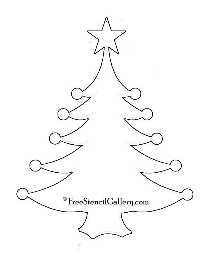 Christmas Tree Stencil 11 | stencils | Pinterest | Trees ...