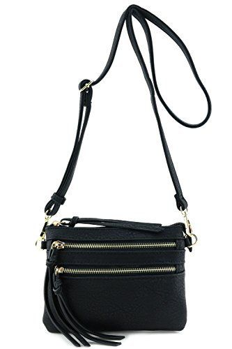 New Trending Cross Body Bags: Multi Pocket Small Crossbody Bag Black. Multi Pocket Small Crossbody Bag Black  Special Offer: $15.50  100 Reviews This multi pocket small crossbody bag makes easy to organize your everyday items.8″ (W) x 5.75″ (H) x 0.5″ (D)Zipper closureAdjustable shoulder strap with 24″ drop  7.5″...
