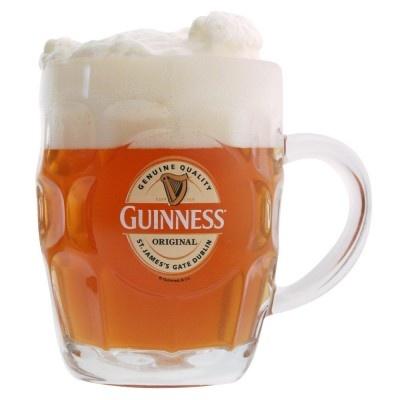 Chope a biere Guinness