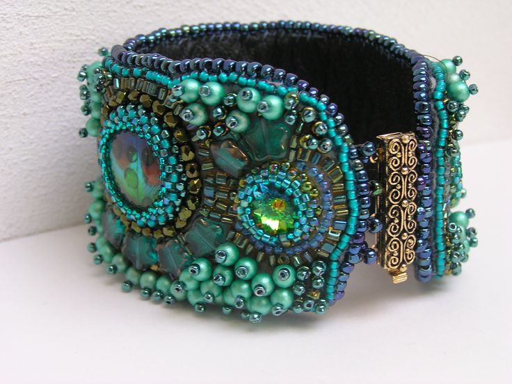 Bead Embroidery Bracelet. I've made plenty of cuff bracelets but have not tried an embroidery cuff as of yet. Need to jump in. VTP
