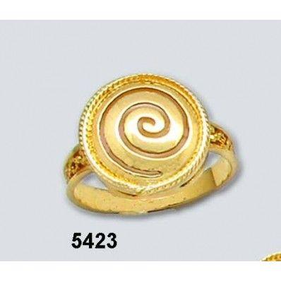 Δακτυλίδι Σπείρα Στρογγυλό Χρυσό Κ14 Kallin - ΑρχαιοΕλληνικά - Δακτυλίδια - Κοσμήματα