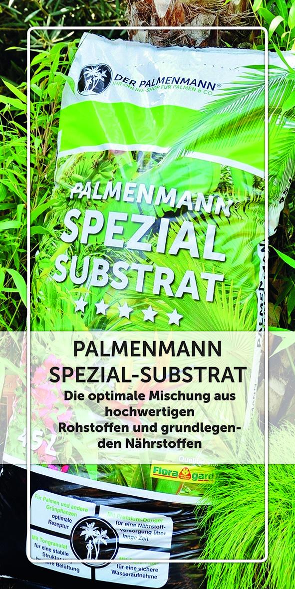 PALMENMANN SPEZIAL SUBSTRAT Durch Die Lockere Erdstruktur Sichert Das Spezialsubstrat Eine Optimale Sauerstoffversorgung Ihrer Pflanzen