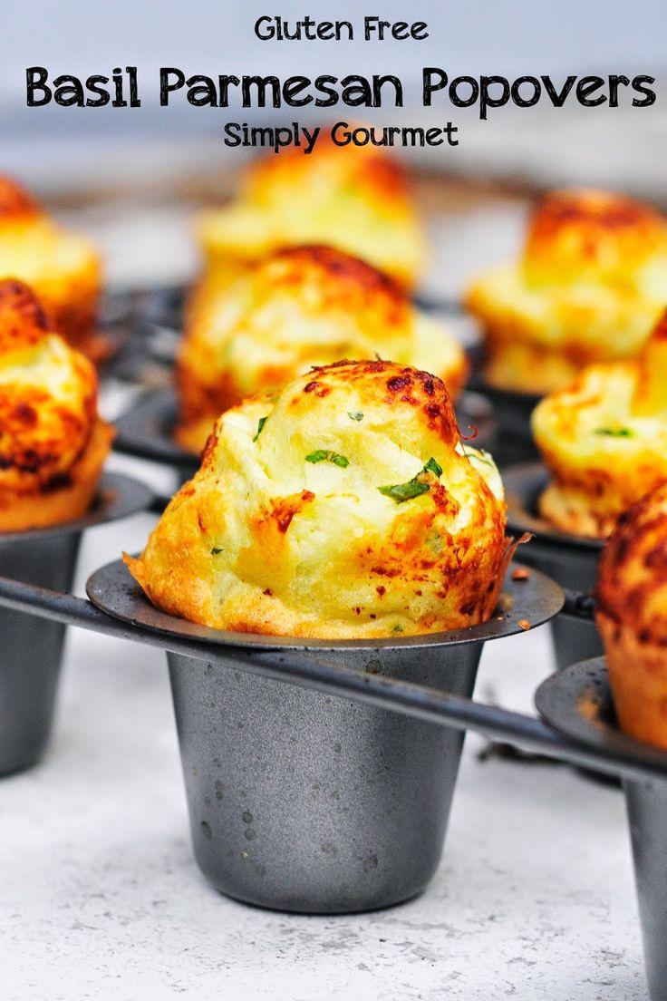 Simply Gourmet: Gluten Free Basil Parmesan Popovers #TwelveLoaves