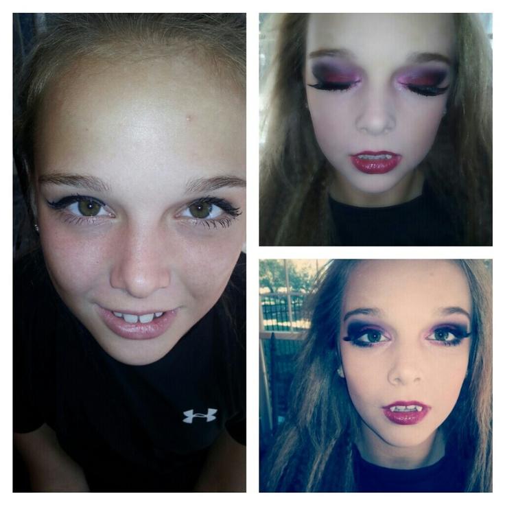 Teen vampire makeup!