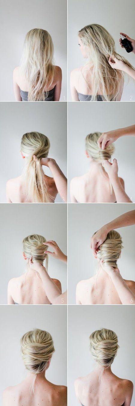 Messy French Twist Tutorial - #frenchtwist #hairstyle #updo #hair #hairtutorial - bellashoot.com