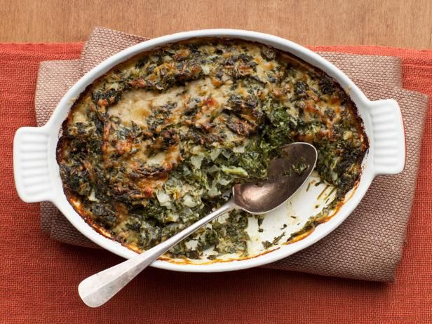 The Barefoot Contessa's Spinach Gratin - Learn how to make the best Thanksgiving vegetable side dish recipes and more from your favorite chefs on Food Network. #ThanksgivingFeast