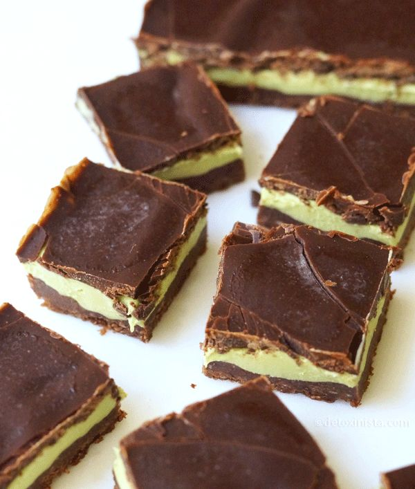 No-Bake Chocolate Mint Bars. These taste like Andes mints, only they're better because they are naturally sweetened and free of artificial food coloring!