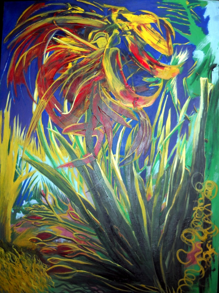 Oil on canvas, 120 by 70 cm.