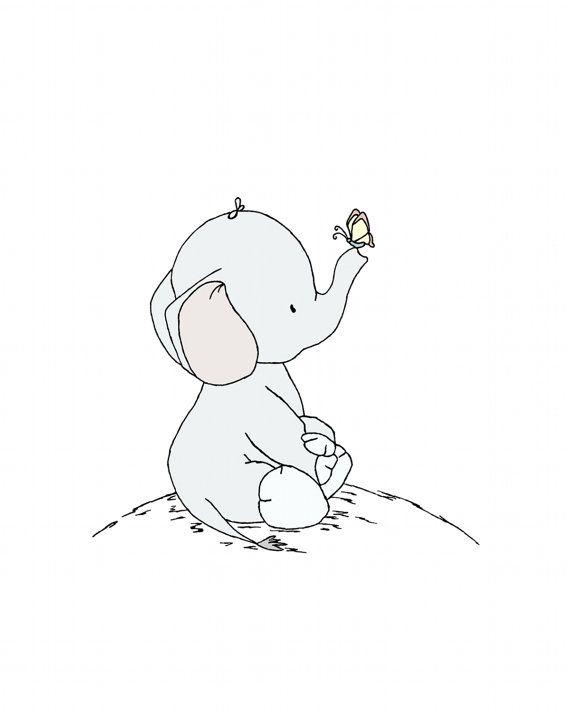 Éléphant pépinière ArtGrands et par SweetMelodyDesigns sur Etsy