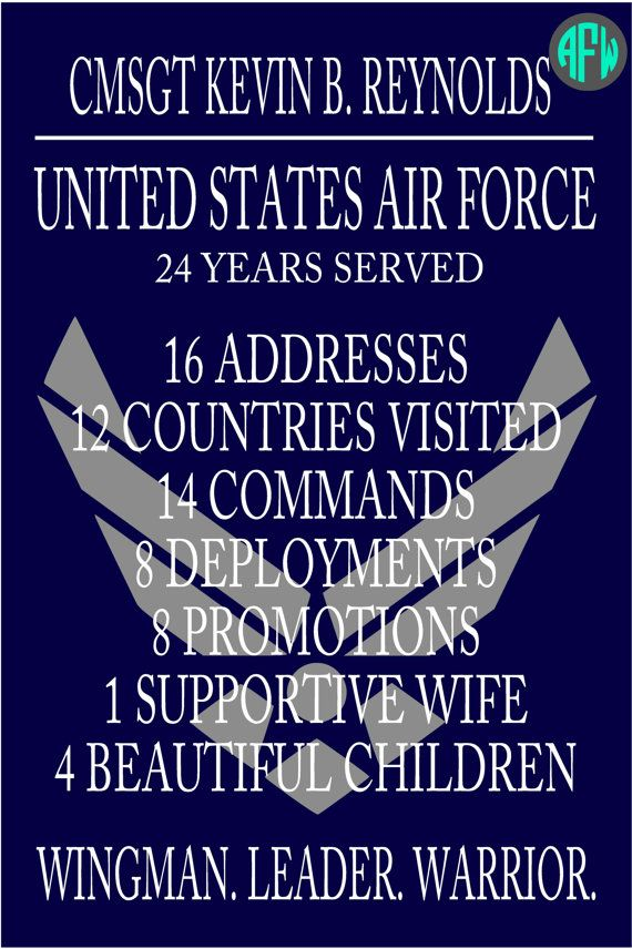 Military Retirement Plaque Personalize w/ by AFWifeCreations