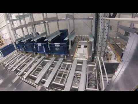 Lagerautomat EffiMat®- Integration with a conveyor system | EffiMat Stor...