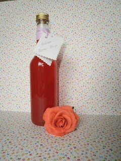 Erdbeer-Rosen-Sirup