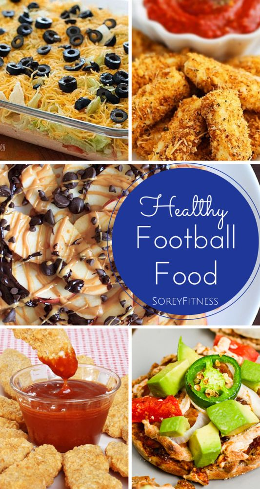 A round-up of the best, healthy football snacks and meals! The Skinny Baked Chicken Fingers look amazing!