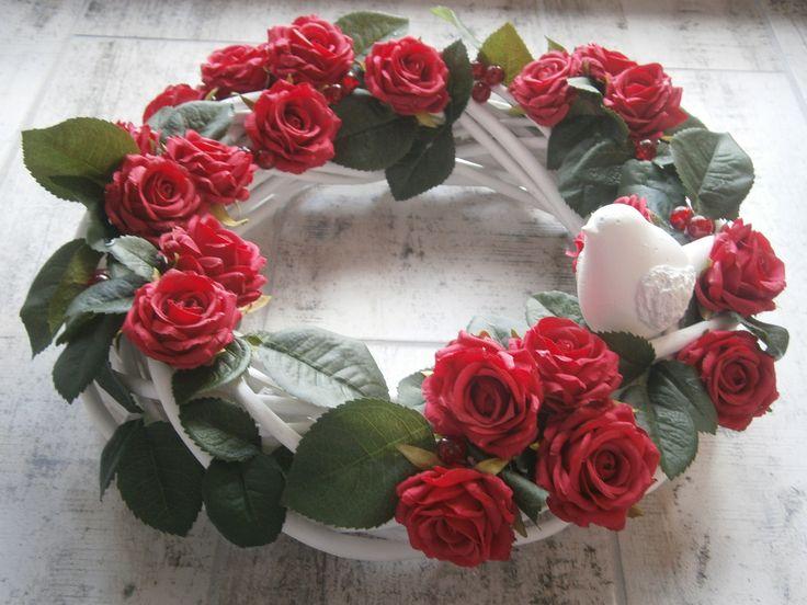 Summer wreath with roses, letni wianek różany